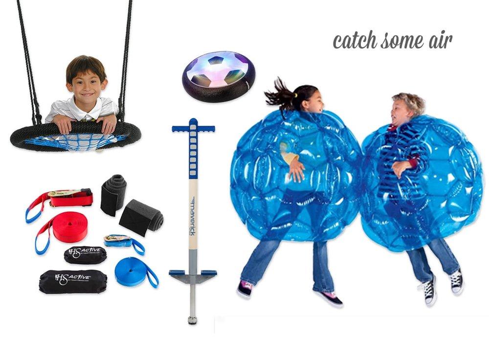 Web Swing / Hover Ball / Sumo Bumper Balls / Pogo Stick / Slackline Set