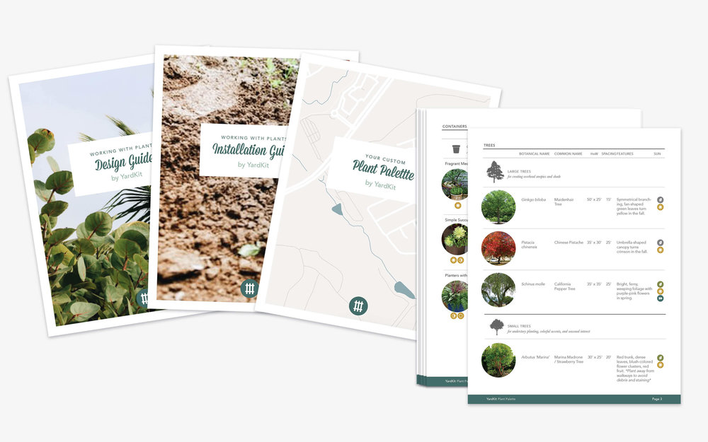 Plant Kit - $65 - With Plant Kit, our team will study up on your property's location and conditions to build a custom palette of regionally suited plants. We also include tips and tricks for plant layout and design. Learn More >>