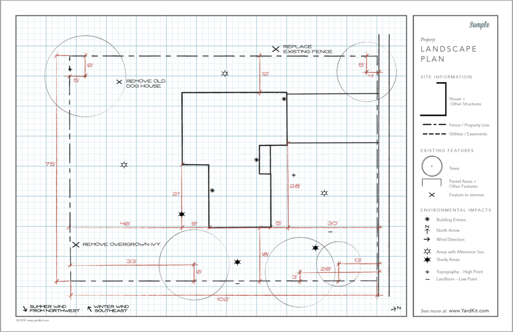 Sample Base Plan - For guidance, see a sample by a professional landscape designer.Download Sample >