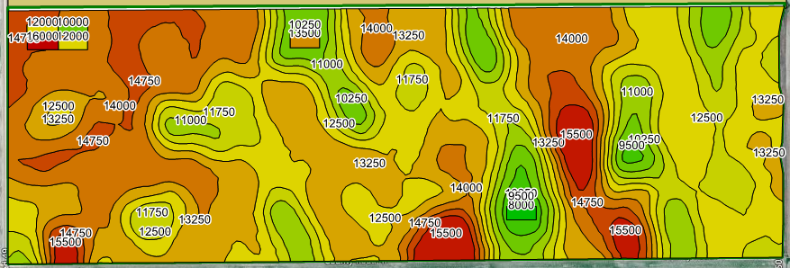 Variable Rate Seeding Map with Check Blocks