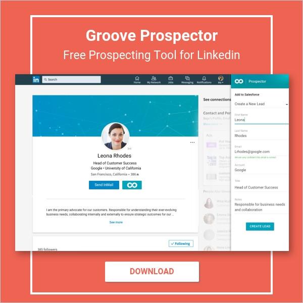 Groove Prospector - Free Prospecting Tool for LinkedIn