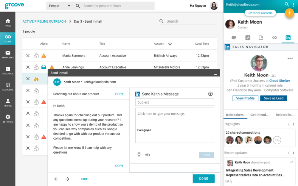 Groove and LinkedIn Sales Navigator Introduce New Integrations