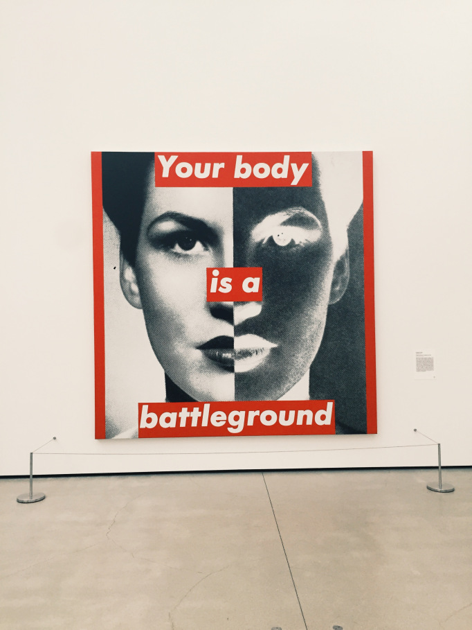 Art by Barbara Kruger at the Broad.