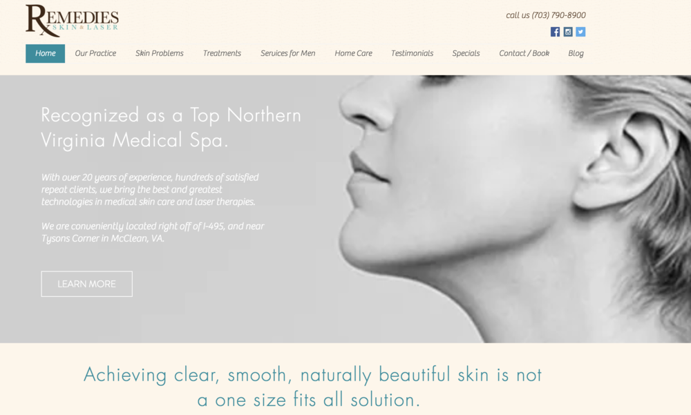 Medical Spa - Website Redesign & Development, Digital Marketing Strategy & Management