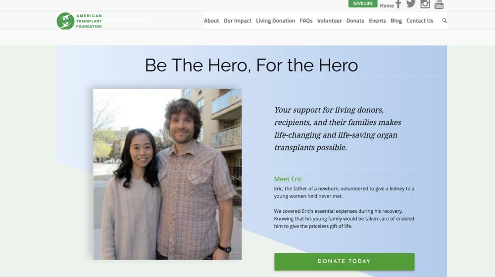 Organ Transplant Support - Digital marketing strategy, Website optimization, Fundraising marketing campaigns