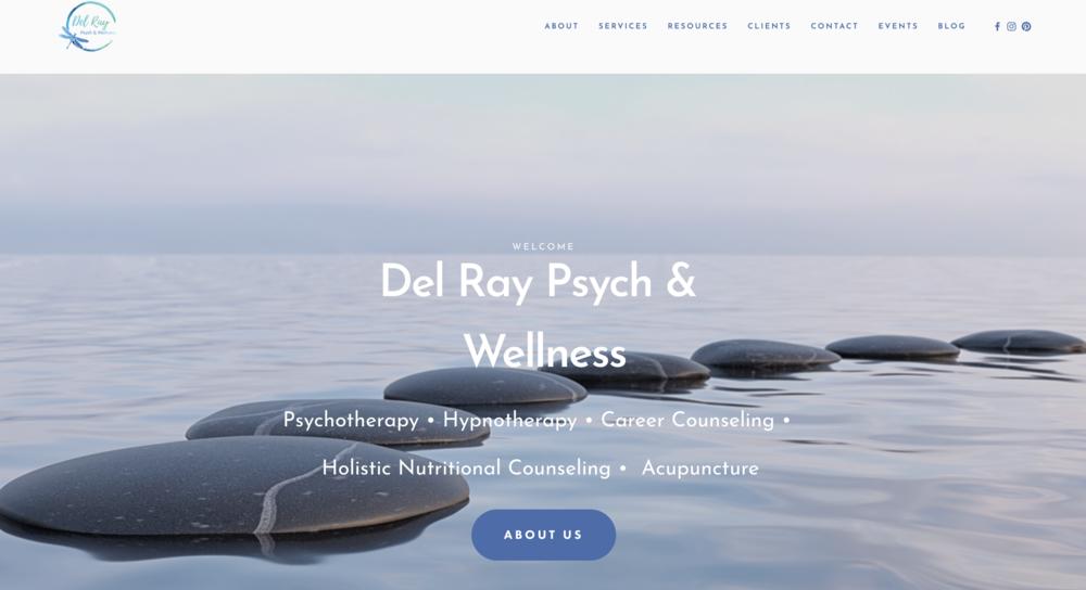 Psychology & Wellness Practice - Website design and development, Content marketing support