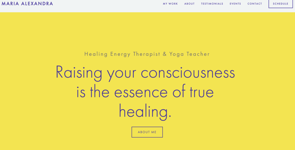 Energy Therapist & Yoga Teacher - Website design & development, Marketing strategy, Content Marketing