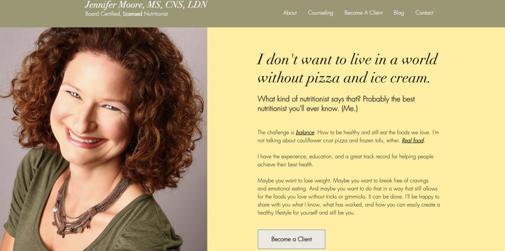 Nutritionist - Website design & development, Digital marketing strategy & Coaching