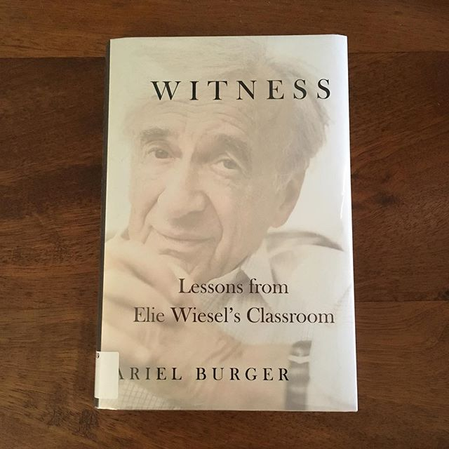 """Professor Wiesel says, """"A madman can be a messenger who forces others to recognize evil. An outsider himself, he reminds others of their madness. This is why I study and teach madness: because only through recognizing its varieties can we become sane.....This is the role of the witness."""""""