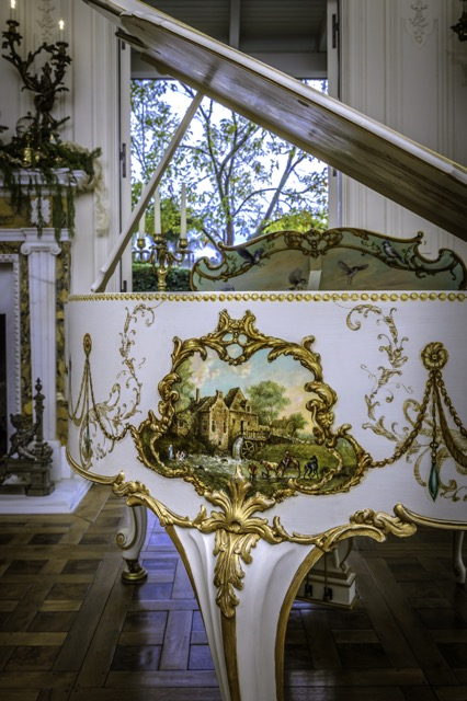 close up of painted piano