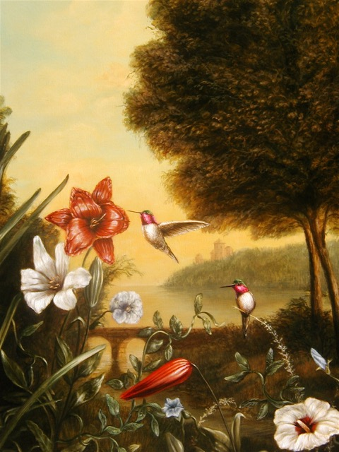 Hummingbirds Painting by Jennifer Chapman