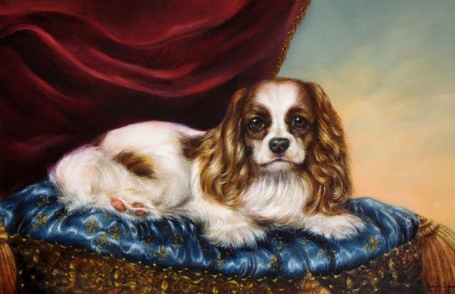 Cavalier King Charles Spaniel Portrait by Jennifer Chapman