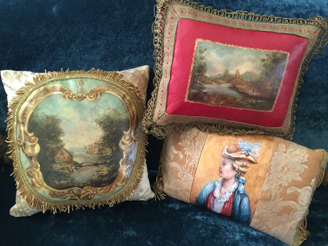 Pillow Trio from the Masterpiece Collection by Jennifer Chapman