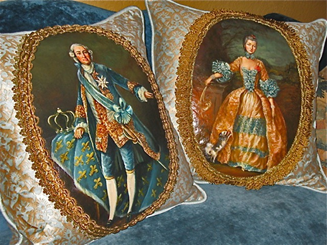 The Aristocrats Pillows from the Masterpiece Collection by Jennifer Chapman