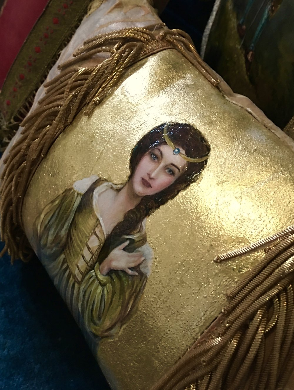 Young Lady Pillow from the Masterpiece Collection by Jennifer Chapman
