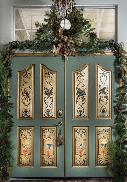Pine Garland and Wreath Holiday Design by Jennifer Chapman