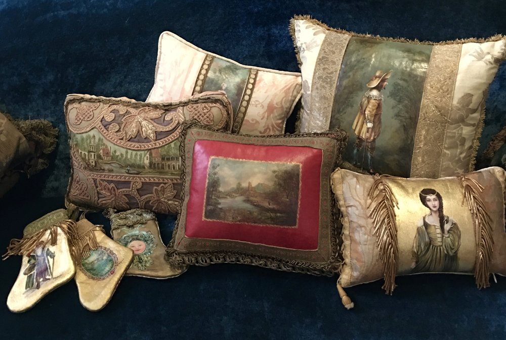 Pillows and Stockings from the Masterpiece Collection by Jennifer Chapman