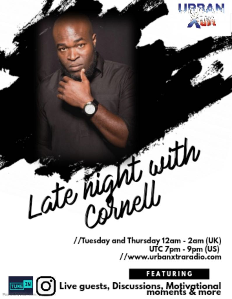 Late Night With Cornell, Tuesday 12am - 2am UK