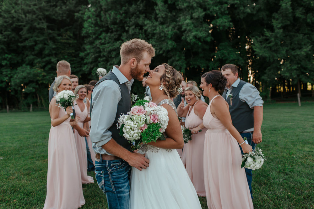 Moonlit Farms in Palmyra Indiana wedding party