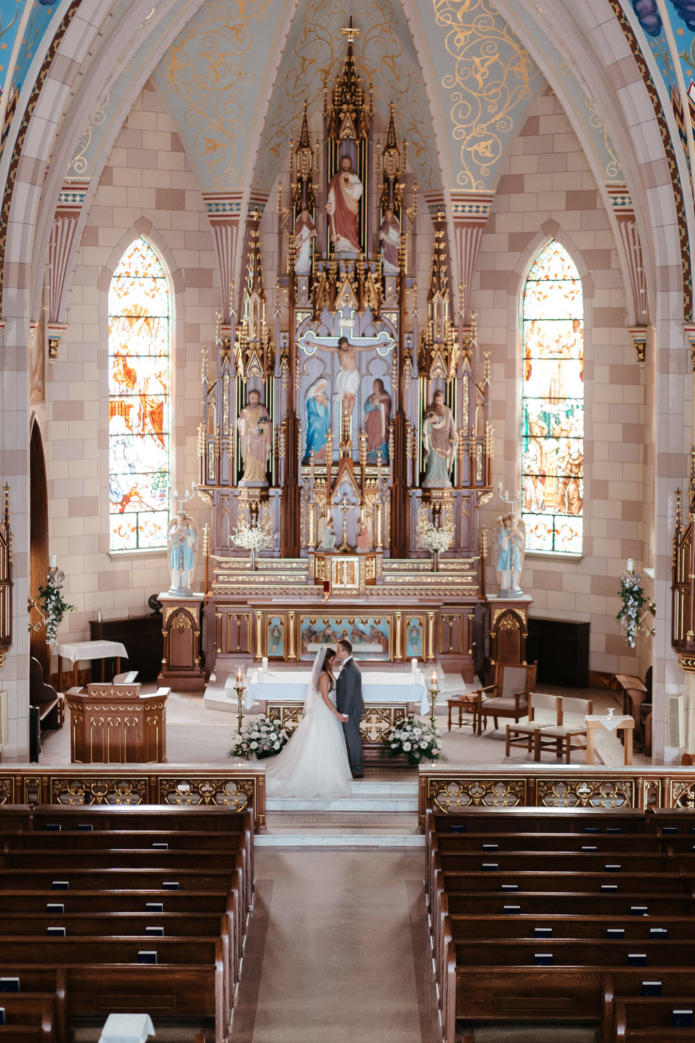 Indiana Wedding at Catholic Church