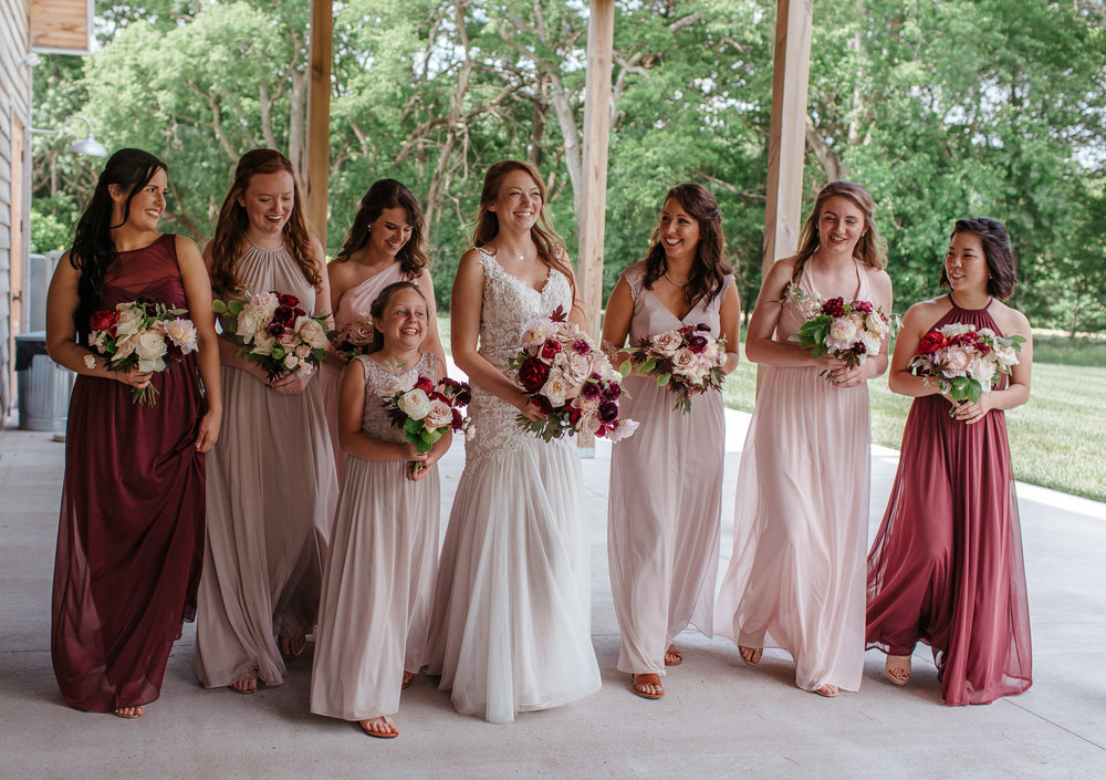 Kentucky bridesmaids walking