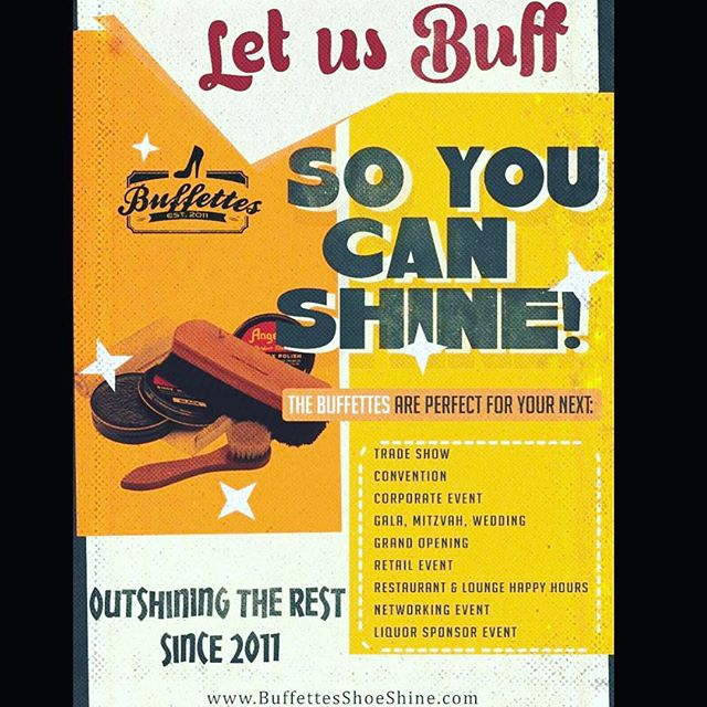 Don't BUFF BUFF PASS on this! Let us help make your next event SHINE !