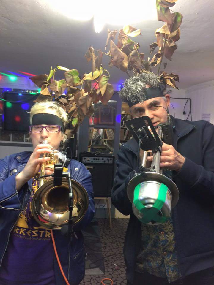 Robyn Steward and Andy Diagram play as Two Horns