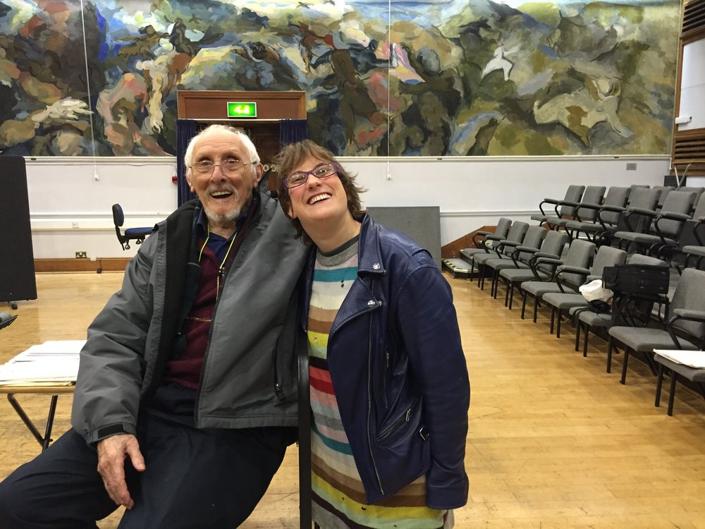 Photo of robyn and Tony Douglas MBE at Morley college`