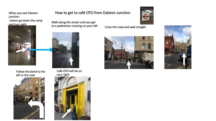 How to get to cafe OTO from Dalston Junction