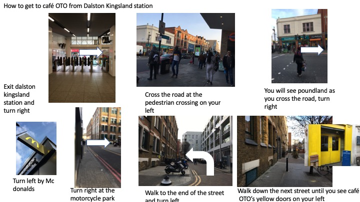 How to get to Cafe OTO from dalston kingsland