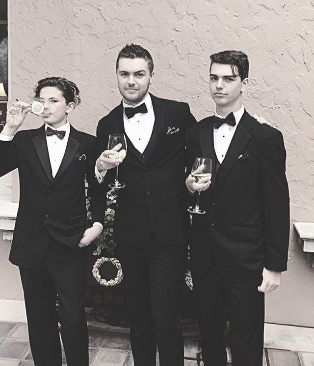 The world wasn't ready for these three Alleg-bros in classy tuxedos. Suited. Booted. Undisputed. Album dropping Spring 2020. . . . . . . . . . #suitup #weddingseason #classy #tuxedo #wedding #jacksonville #bros #threeamigos #formal #travel #albumcover #classy #wine #calvinklein #versace #gucci #georgioarmani