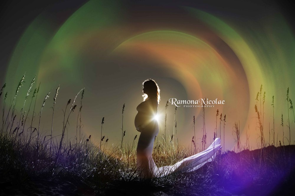 maternity photography in myrtle beach waves of energy around pregnant mother ramona nicolae photography.jpg