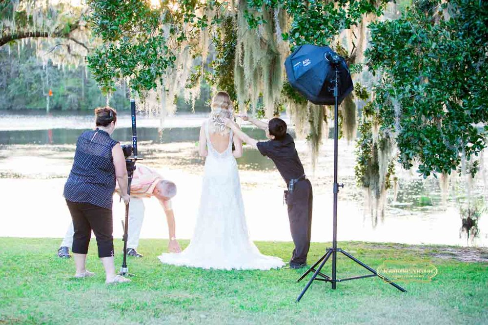 Myrtle Beach Wedding Vendors working together for the bridal shoot at Wachesaw plantation with Ramona Nicolae Photography