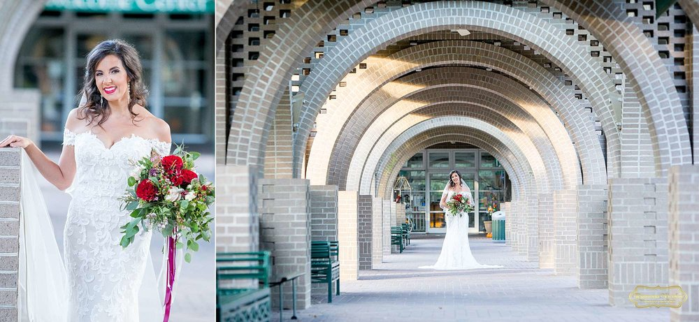 gorgeous bride for her bridal session by myrtle beach wedding photographer ramona nicolae at brookgreen gardens entrance with beautiful arthitectural ceiling-1.jpg