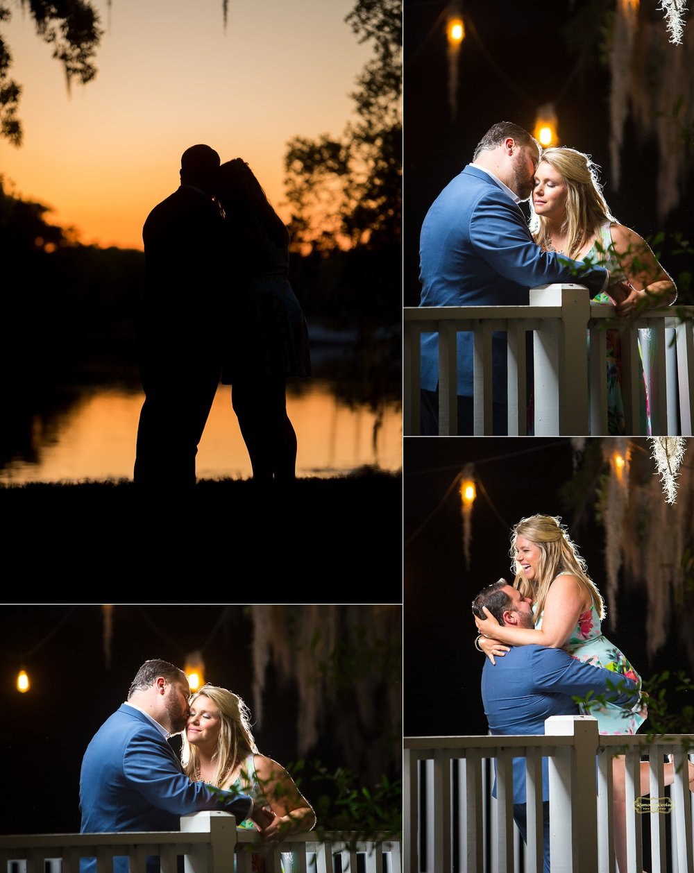 silhouette and night time engagement photos at wachesaw plantation.jpg