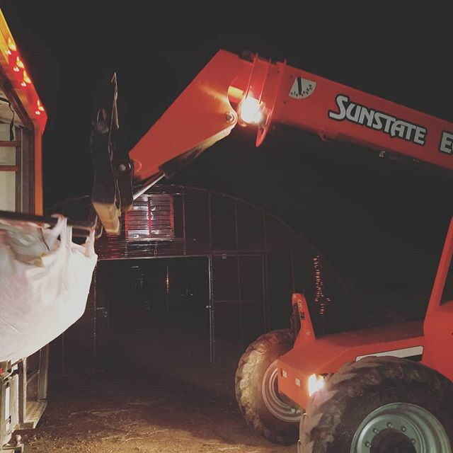 Sunrise to sunset... Our crew kills it! #farmlife #buildthefutureyouwant #hempfarm #delivery #hemp #agriculture