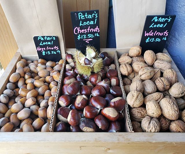 Petar's nuts just in! We love our local farmers. #yyjeats #yyjfarmers #buybc