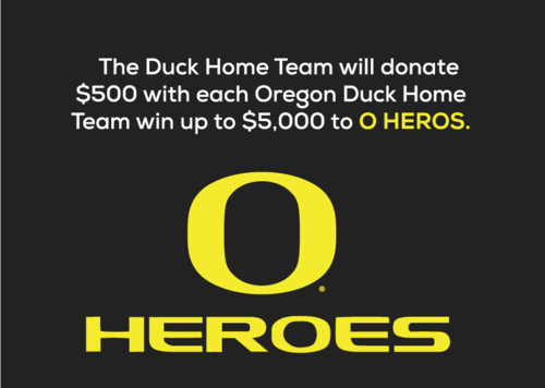 O Heroes allows University of Oregon student-athletes the opportunity to thank fans and the community by volunteering their team for projects such as: Susan G. Komen Race For The Cure, Read Across America and ASL Field Day.