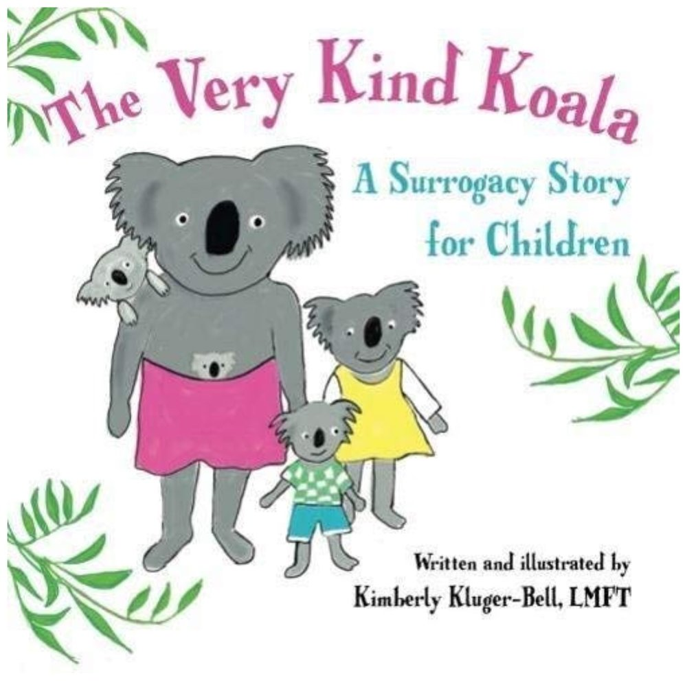 The Very Kind Koala - The Very Kind Koala is a charming picture book for young children which provides an introduction to surrogacy through the simple story of a koala bear and her husband who needed the help of a very kind koala to carry their baby in her pouch. Parents can begin reading this story to children as young as 3 years of age to begin the dialog about their own helpful surrogate.