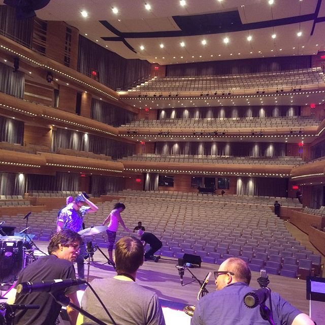 Maison Symphonique du Montreal! Battle of the Bands with the Cab Calloway Band tonight!