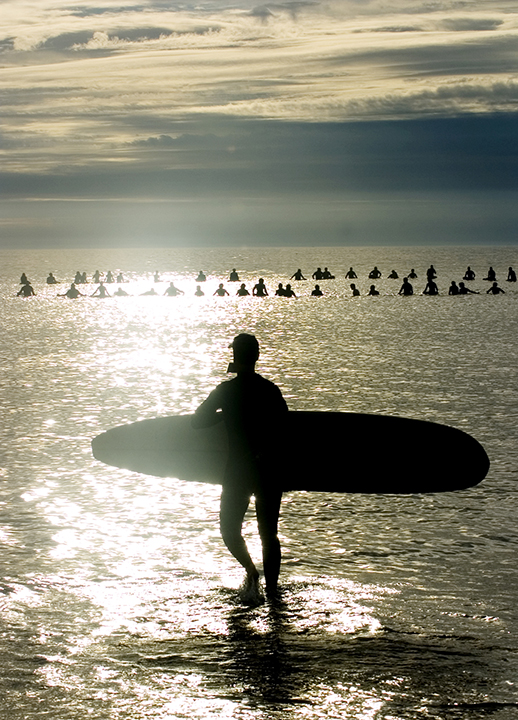 "One of my favorite images, taken during the ""paddle out"" for Marshfield's Bob Pollard following his untimely death."