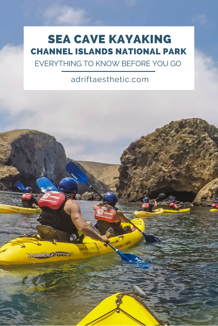 Try sea cave kayaking in the ocean, snorkeling or hiking while exploring Channel Islands National Park off the coast of California. #nationalpark #california #kayaking #hiking