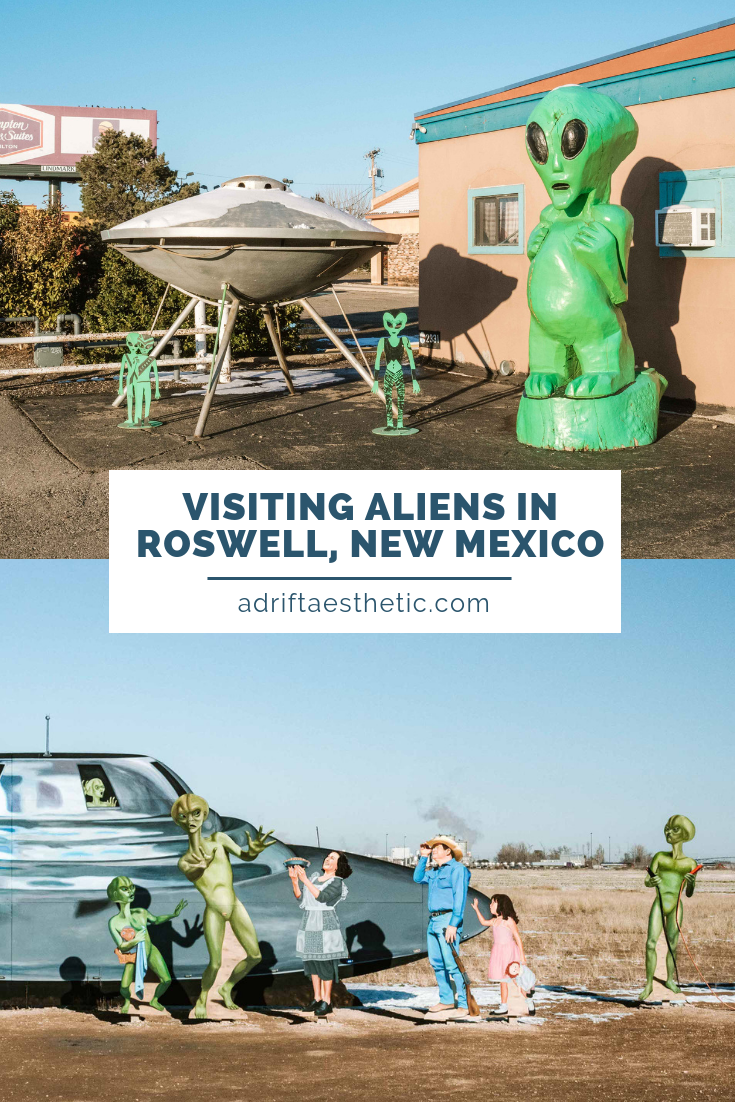 Visit Roswell, New Mexico to learn about the UFO crash of 1947 that stunned the country. Home to the International UFO Museum plus a lot of people who really care about aliens, Roswell is a perfect town to visit for a day trip in the Southwest. #roswell #aliens #travel