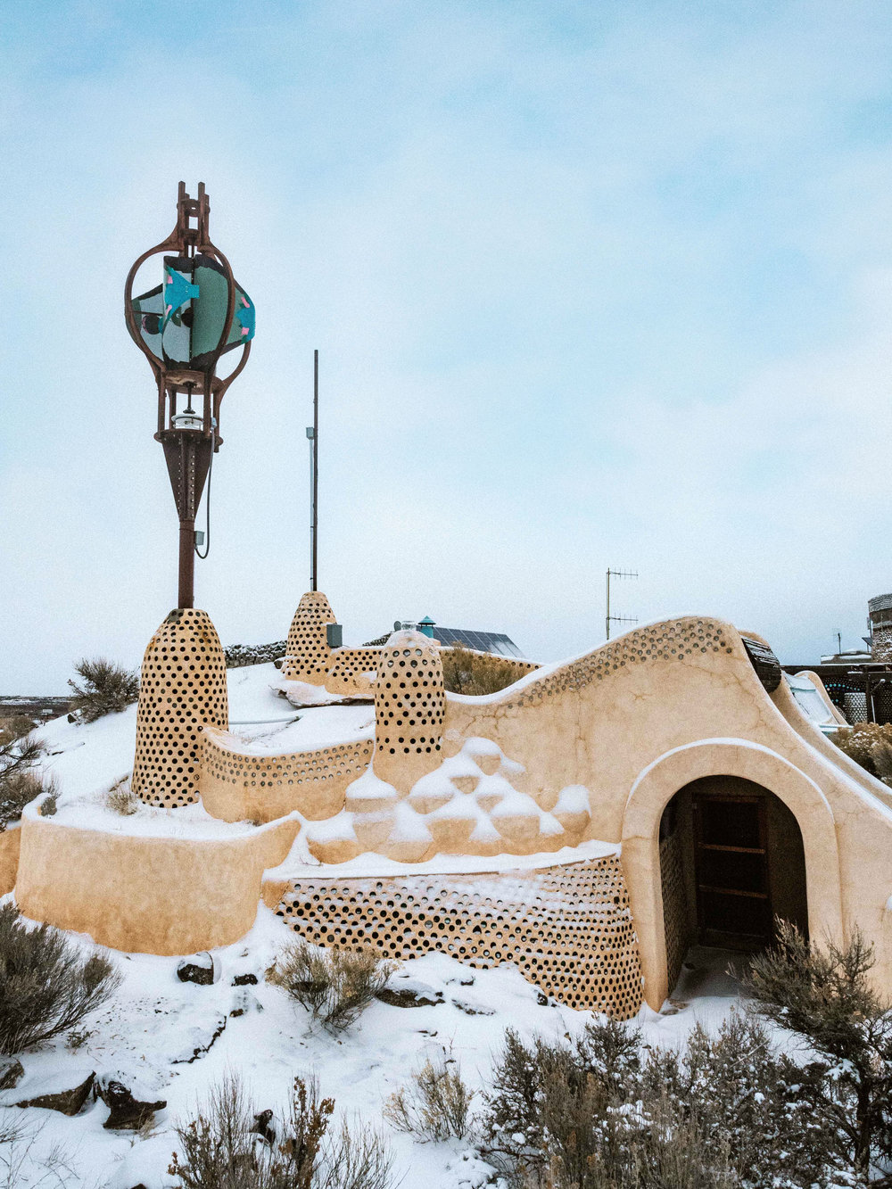 Earthship Sustainable Home Taos New Mexico