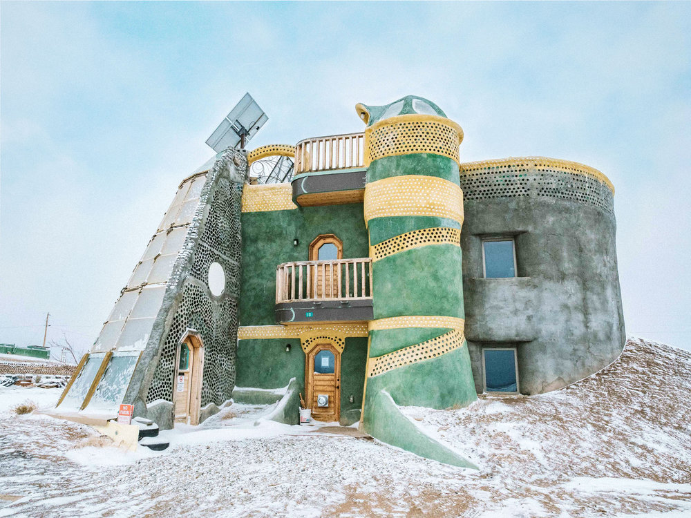 Earthship Architecture Taos New Mexico
