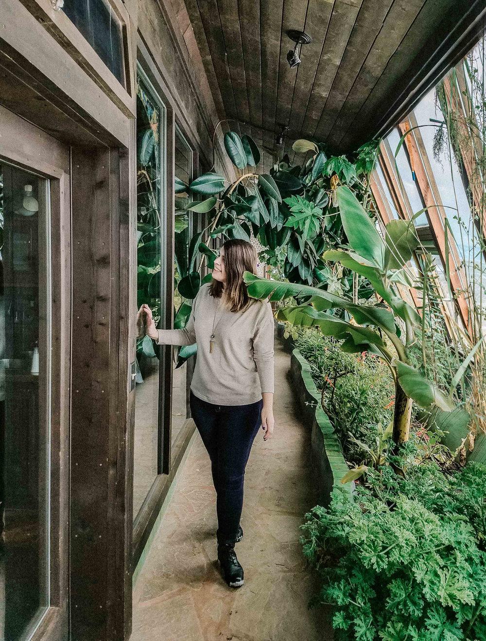 Earthship Garden Hallway Taos New Mexico