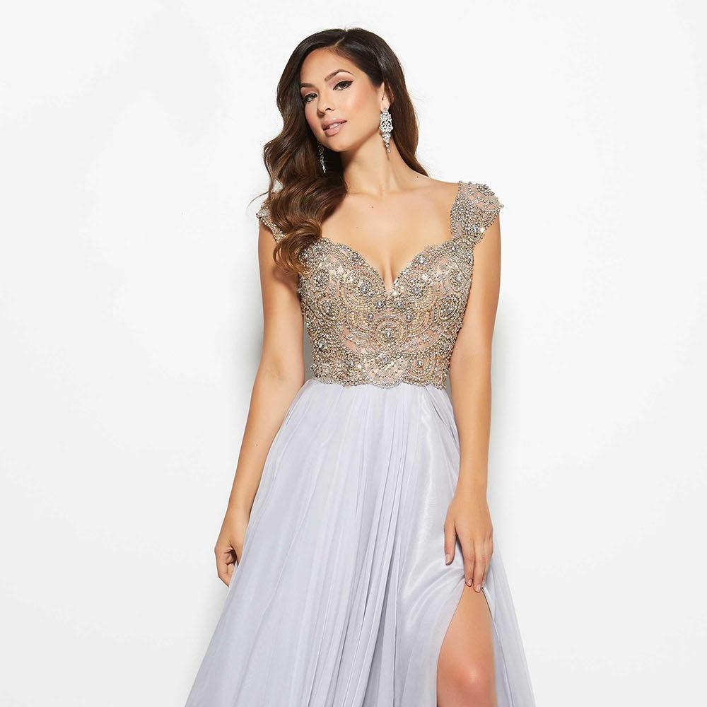 slit-grey-chiffon-a-line-beaded-v-neck-prom-cap-sleeve-ball-dress-1.jpg