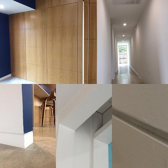 All in the details! Hidden closet doors, flush base and flush bedroom doors. #moderarchitecture
