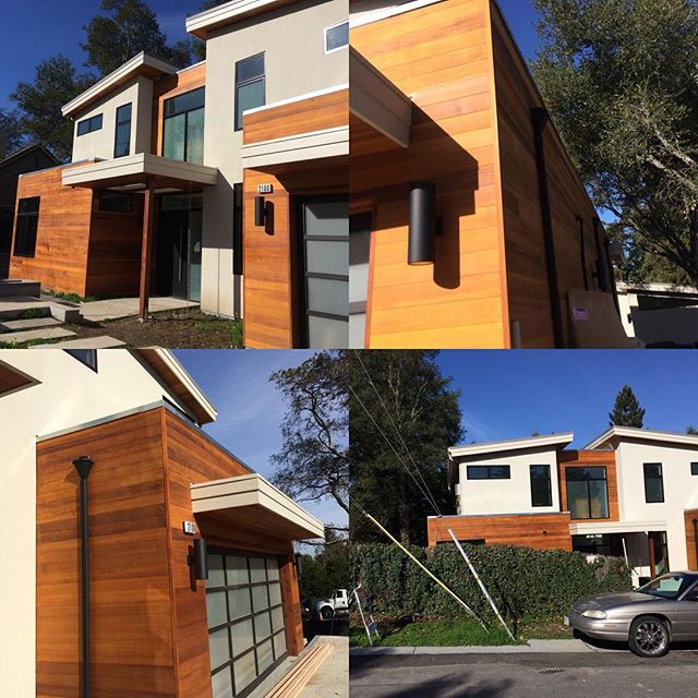Sharing a few pictures of a nice modern project in the Menlo Park area. They did some nice details.