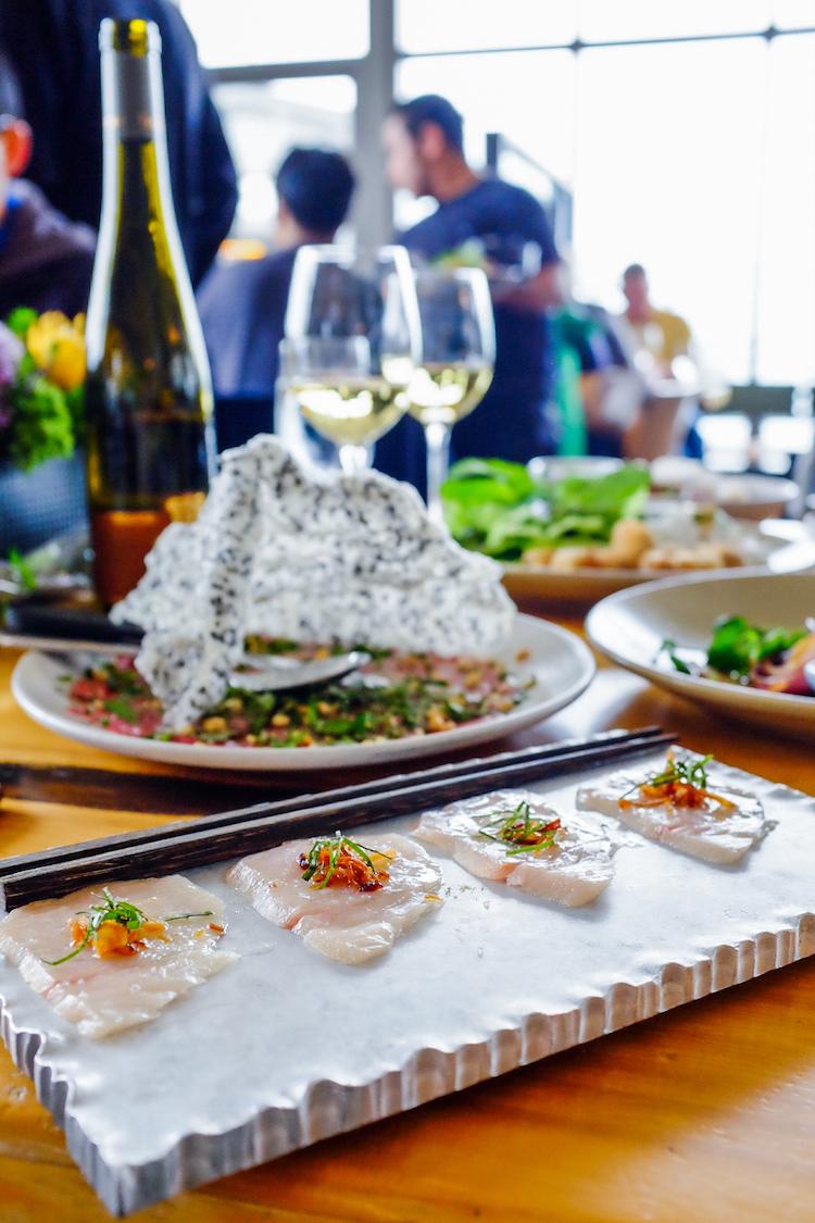 Japanese Hamachi: crispy shallots, lime, thai basil